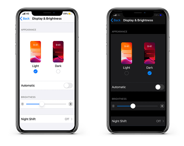 ios 13 Dark mode Benefits