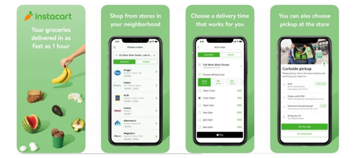 Grocery app development like Instacart