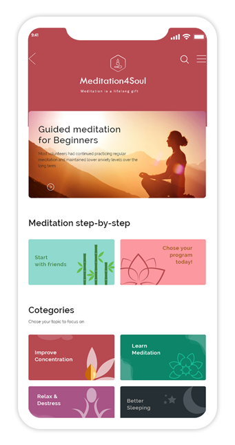 Meditation4Soul App Features