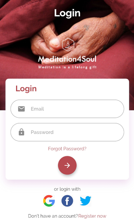 meditation4soul app screens